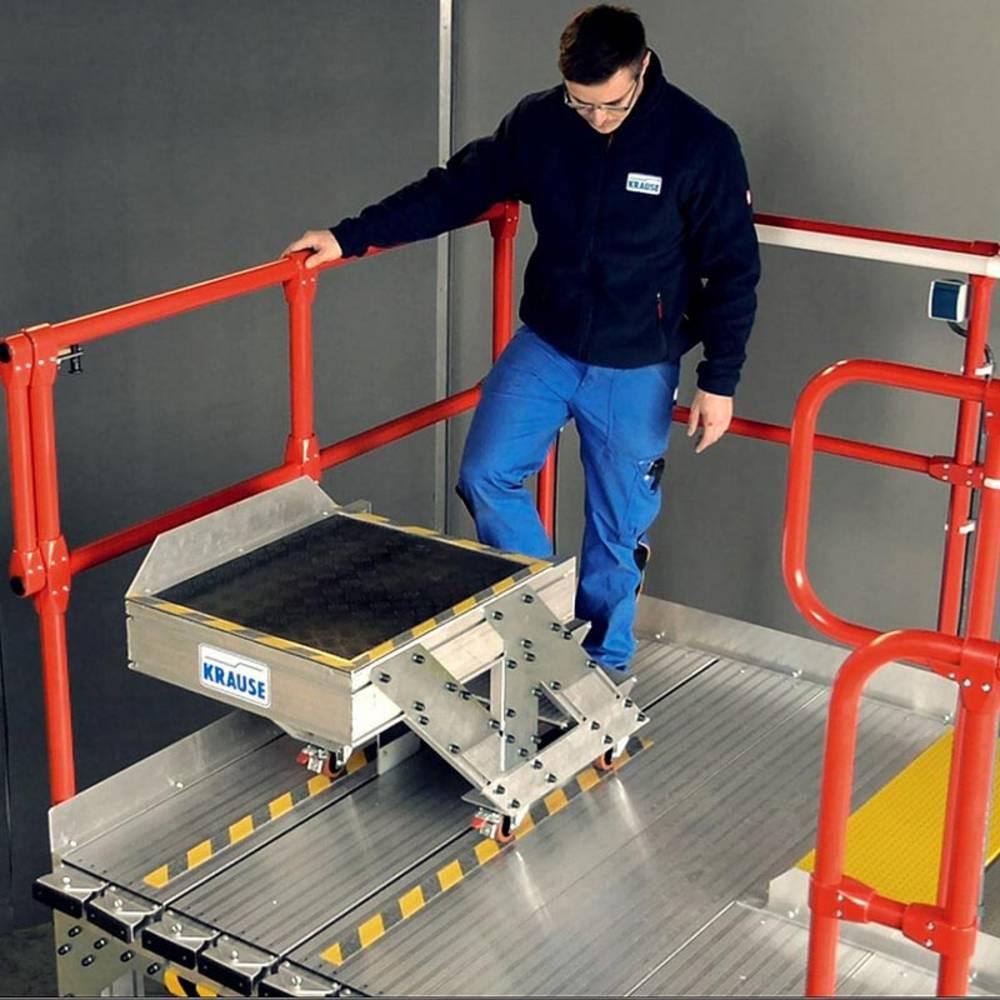 Plattformtreppe mit Schlitten und Konturanpassung