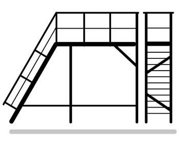 Download Anfrageformular Industrietreppe mit Plattform, freistehend und verlängert