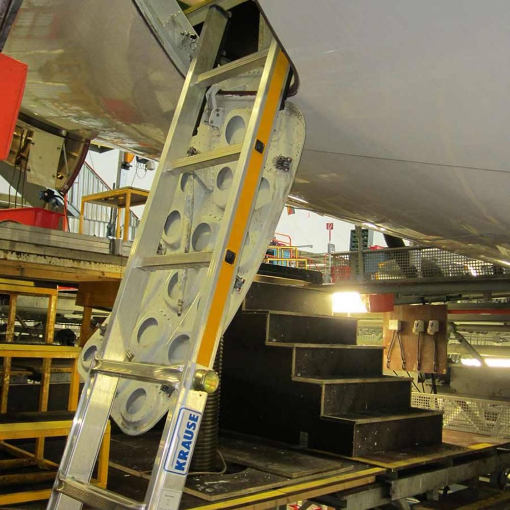 Die Höhenverstellung erfolgt durch das innovative KRAUSE-ClickMatic-System