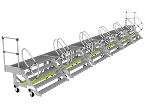Seitenarbeitsbühnen aus Aluminium in Modulbauweise