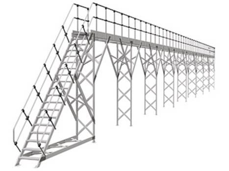 Bodenmontierte Seitenarbeitsbühne und Dacharbeitsbühne