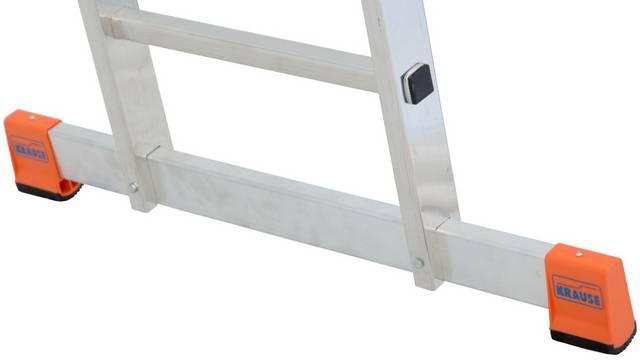 Sprossen-Schiebeleiter Fabilo zweiteilig - Breite Quertraverse für noch mehr Standsicherheit