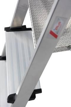 Stufen-Stehleiter Safety - 6-fach vernietete Stufen-/Holmverbindung für hohe Stabilität