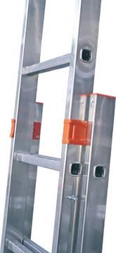 Sprossen-Schiebeleiter Fabilo zweiteilig - Pulverbeschichtete Stahl-Führungsprofile für eine leichte Bedienung