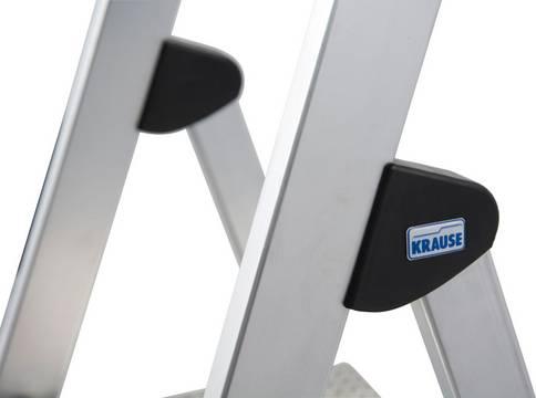 Stufen-Stehleiter Safety - Holmumgreifendes Sicherheits-Gelenksystem ##4CS für eine stabile Verbindung