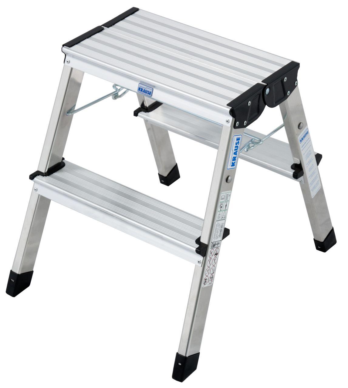 Doppel-Klapptritt Treppy. Der leichte und stabile Aluminium-Tritt mit großer Standfläche
