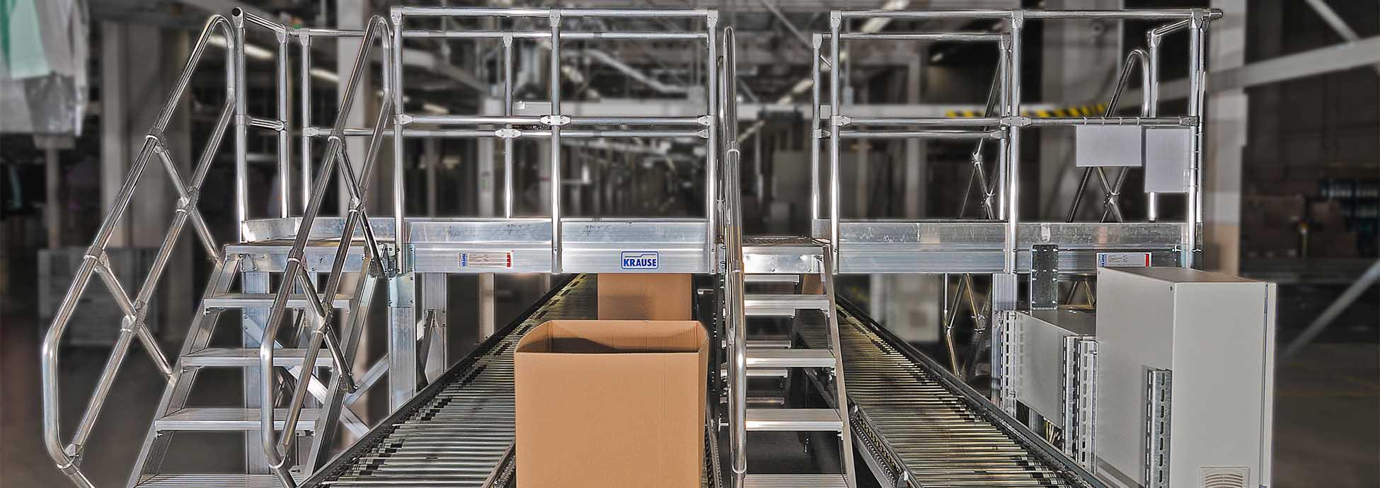 Sicherer Aluminium Überstieg einer Förderanlage