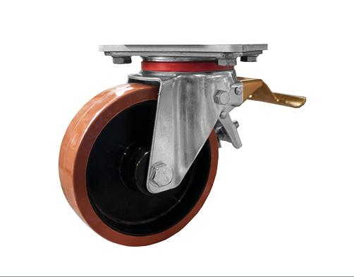 Fahrrolle Standard, 200 mm, gebremst für fahrbare Grubenpodeste