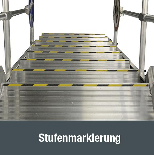 Zugang für Schienen- und Nutzfahrzeuge - Stufenmarkierung