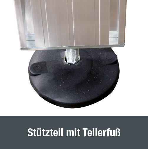 Zugang für Schienen- und Nutzfahrzeuge – Stützteil mit Tellerfuß